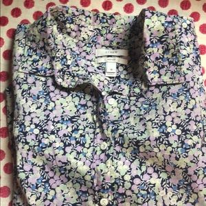 J Crew Liberty Wiltshire Berry Perfect Shirt